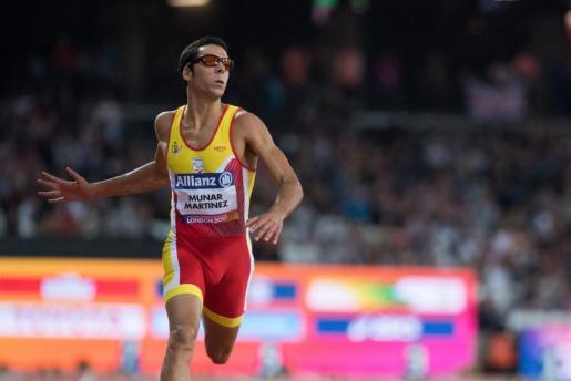 El atleta mallorquín Joan Munar, durante su participación en los Mundiales.