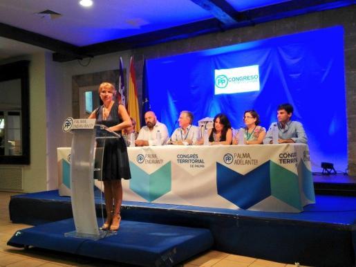 Marga Durán, después de ser elegida presidenta de la Junta Territorial de Palma.