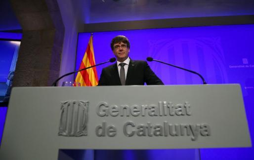 Carles Puigdemont dice que no renunciará al referéndum.