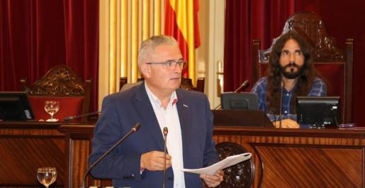 El diputado del Pi, durante su intervención en el Parlament.