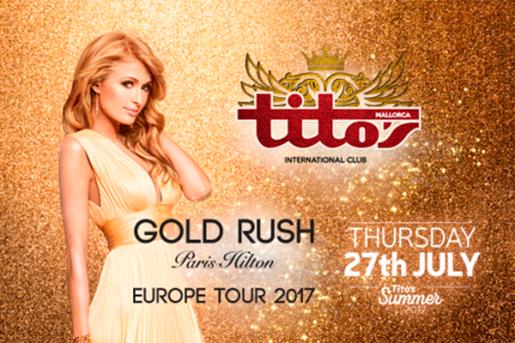 La conocida celebrity Paris Hilton pinchará este jueves en la discoteca Tito's.