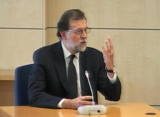 Mariano Rajoy durante su declaración.