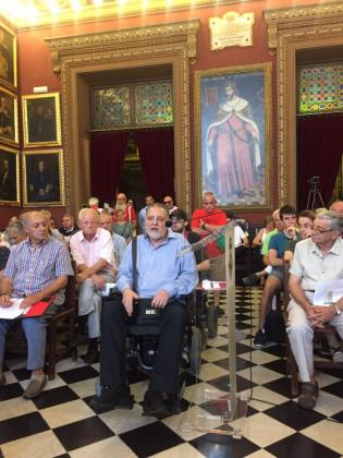 Leonardo Cortés ha intervenido este jueves en el pleno del Ajuntament de Palma.