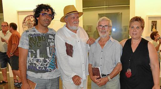 Pep Coll, Jaume Poma, Antoni Marquet y Antònia Coll.