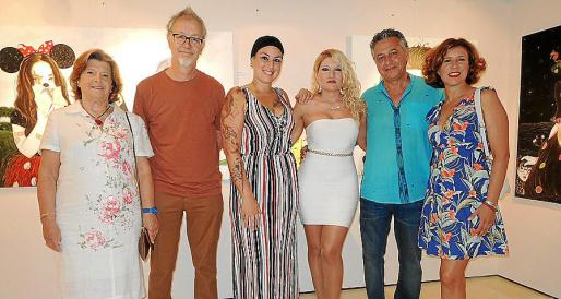 María Dulce Fuster, Miquel Aguiló, Natu Dumrauf, Marisa Blume, Xisco Barceló y Vicky Pérez.
