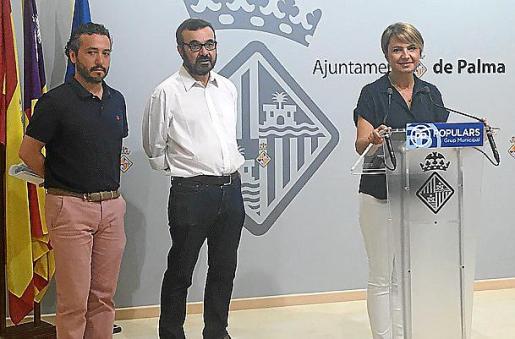 El concejal del Ajuntament de Palma Fernando Rubio (a la izquierda) será el número dos de la dirección del PP palmesano.