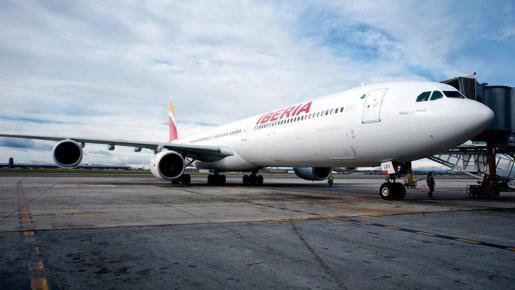 Un avión de la compañía Iberia