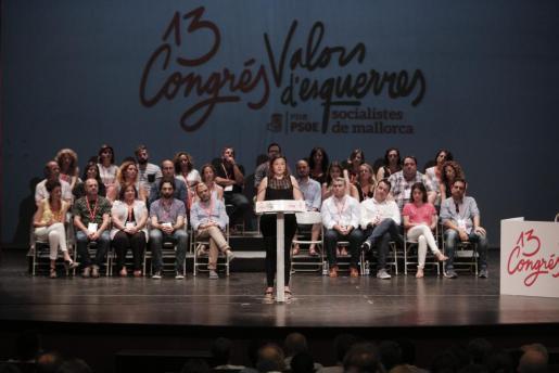 Mercedes Garrido, tras proclamarse secretaria general de la Federació de Socialistes de Mallorca.