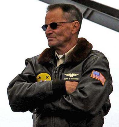 Sam Shepard, durante el rodaje de la película «Black Hawk derribado»