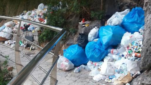 El domingo pasado se acumulaban 5 metros cúbicos de residuos, según el Govern, en el Torrent de Pareis.