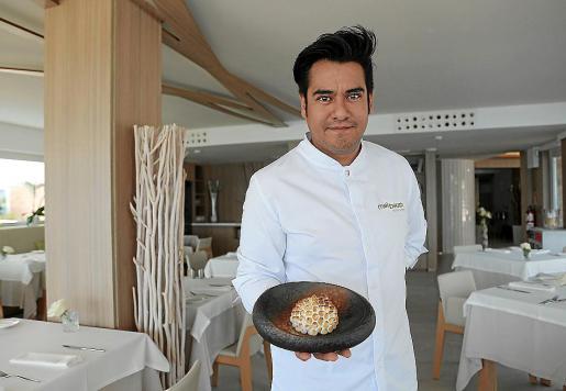 El Chef David Moreno del hotel Melbeach en calle Costa i Llobera.