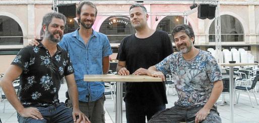 Xavier Gallart, Marc Bagur, Josep Maria Fita y Josep Sampol, promotores de Es Claustre.