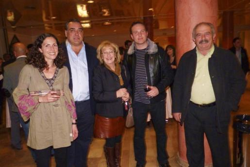 Cati Borrás, Fofó Robledo, Joana María March, David González y Juan Romero.
