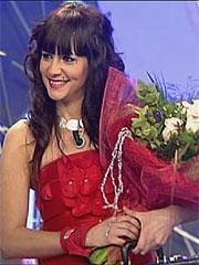 Laura Campos, tras ganar.