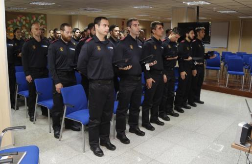 Inauguración el pasado mes de enero del 39 curso básico de Policía Local de Baleares.