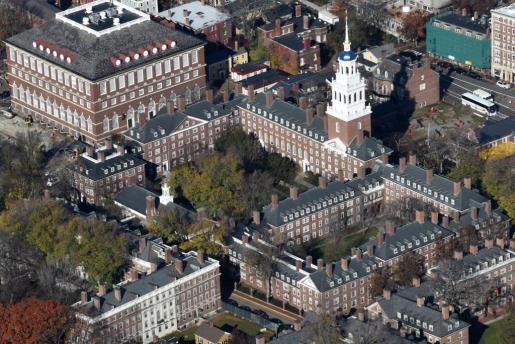 Vista aérea de la Universidad de Harvard, en el estado de Massachussets (EEUU).