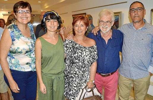 Aina Aguiló, Cati Bennàssar, Cati Bota, Toni Bennàssar y Andreu Aguiló.