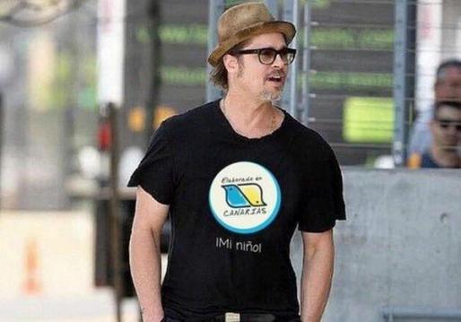 El actor Brad Pitt durante un rodaje en las Islas Canarias