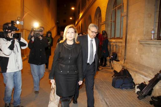 Maria Antónia Munar, en una de sus comparecencias ante el juez en marzo del año pasado.