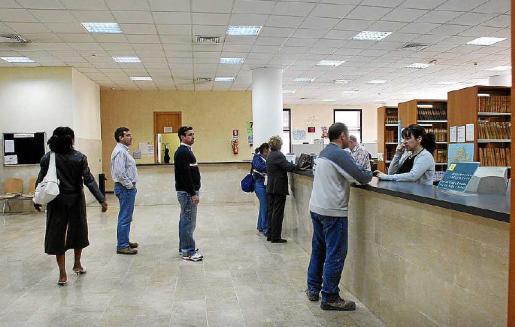 Imagen de las oficinas del Registro Civil de Palma, en el que se tramitan decenas de solicitudes de nacionalidad cada año.