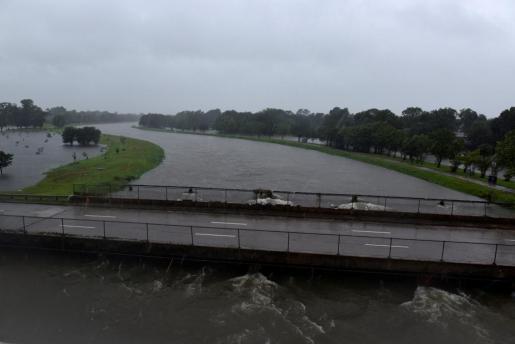 Lluvias catastróficas en Texas al paso de huracán Harvey.