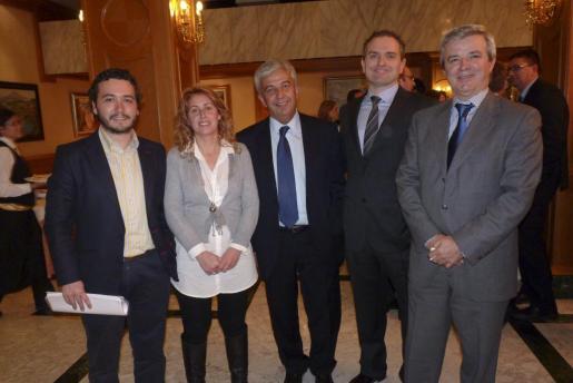 Fernando Rubio, Maribel Crespí, Gabriel Oliver, Óscar Carreras y Llorenç Julià.