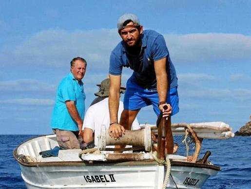Álvaro Aguado durante el rodaje del corto en aguas de Formentera en julio.