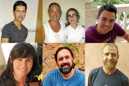 De izquierda a derecha, de arriba a abajo: El ganador Pedro Antonio Colom y los finalistas Marta Ortega, Camilo Pereira, Elena Boza, Joan Vich y Miquel Àngel Vanrell.