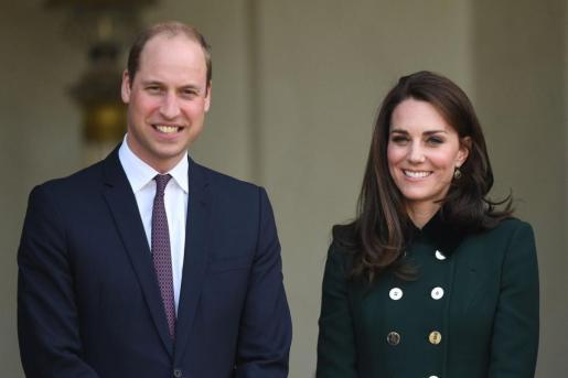 El príncipe Guillermo y su esposa.
