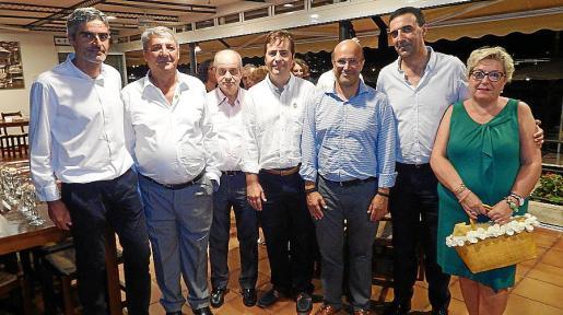 Josep Lluís Colom, Toni Pons, Tolo Oliver, Antonio Frontera, Carlos Frontera, Jaume Servera y Maria Boter.