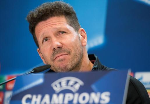 """El entrenador del Atletico Madrid Diego """"Cholo"""" Simeone."""