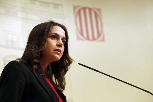 La líder de Ciudadanos en Cataluña, Inés Arrimadas, en una imagen de archivo.