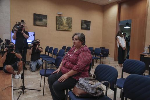 Imagen de Montserrat Seijas durante la vista celebrada este miércoles.
