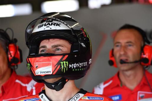 Es balear Jorge Lorenzo, durante el Gran Premio de Austria de motociclismo.