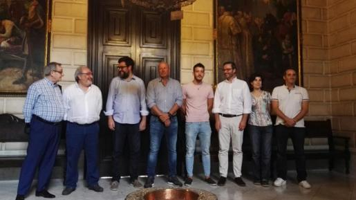 Antonio Vidal, Virgilio Izquierdo, Antoni Noguera, Ingo Volckmann, Xavi König, José Hila, Antònia Martín y José M. González.