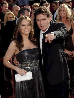 Charlie Sheen y su esposa, Brooke Mueller