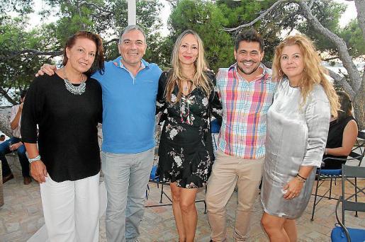 Anaïse Nolan, Jorge Azri, Inma Bianchi, Ernesto Rodríguez y Pilar Correa.
