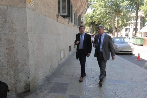 Imagen de Jaume Matas en una de sus últimas visitas a los juzgados.