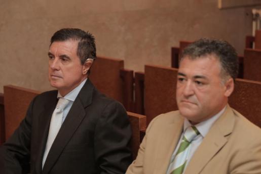 Jaume Matas y 'Peopte' Ballester, durante el juicio que ha empezado este lunes.