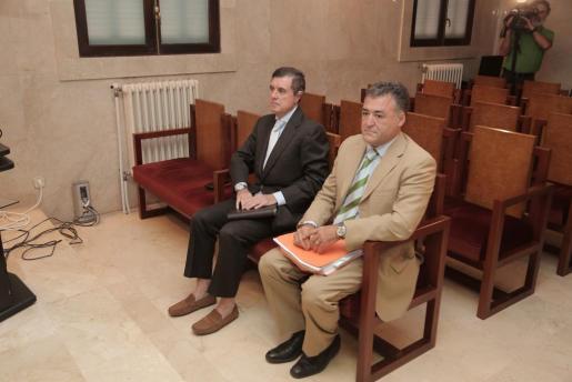 Jaume Matas y 'Pepote' Ballester, durante el juicio.