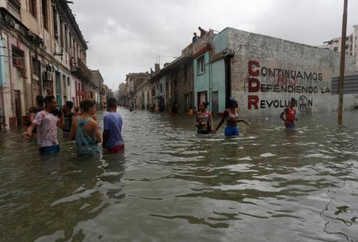 Zona inundada de la capital cubana.
