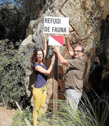 Sandra Espeja y Josep Manchado en los Tossals Verds.