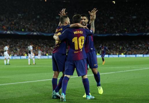 Messi celebrando uno de sus goles.