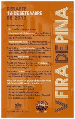 Cartel de la Feria de Pina.