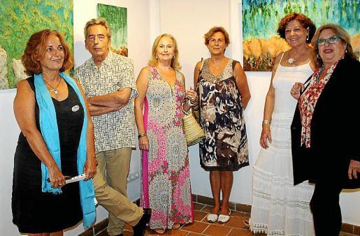 Luisa Servera, Rafael Nadal, Carmen Repiso, Joana Salom, Francisca Llabrés y Margalida Fuster.
