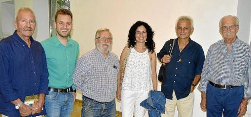 Biel Fiol, Andreu Villalonga, Santiago Coll, Margalida Vinyes, Toni Gomila y Mateu Banús.