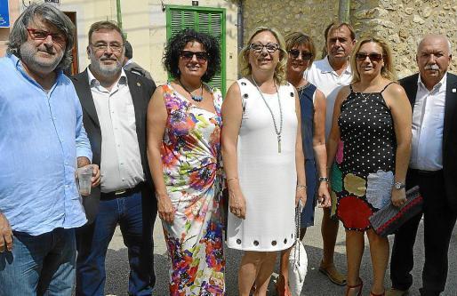 Jaume Balaguer, Tolo Moyà, Xesca Ramis, Cati Ramis, Patricia Munar, Pedro Munar, Antònia Ramis y Joan Abrines.