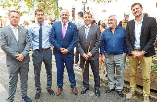 Xisco Marroig, Jaume Sastre, Miquel Ensenyat, Toni Aguiló, Andreu Barceló y Josep Claverol.