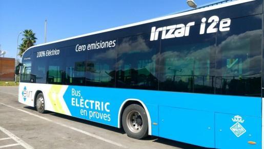 Imagen del autobús eléctrico.