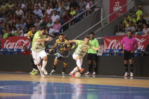 Un lance del encuentro entre el Palma Futsal y el Jaén Paraíso Interior.